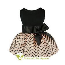 "Fitwarm 16""Chest Princess Wedding Dog Dress Medium Pet Clothes Pink Shirt Vest"