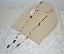 NWT $395 ALEXIS BITTAR Gold Elements Tiered Necklace Labradorite Rocky Station