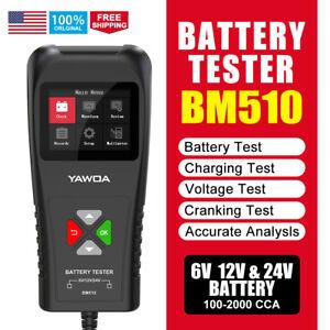 Battery Load Charging Cranking Tester Alternator Analyzer Diagnostic Tool 6-24V