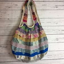 NWT TIKKA Shoulder Bag Silk & Rayon Handmade for Recycled Strips from Saris