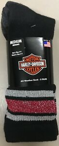 2  Pair Womens Harley Davidson All Weather Riding Sock Size 6 - 9 NEW w/ Tags MM