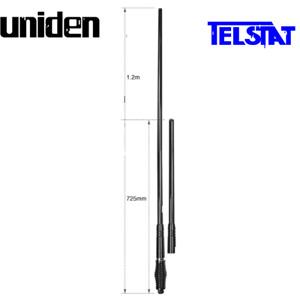 Uniden AT970BK Black Rugged UHF CB Twin Antenna Kit (Similar to GME AE4705BTP)