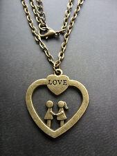 Markenlose Modeschmuck-Halsketten & -Anhänger aus Legierung mit Herz