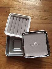NEW Swarovski Crystal Jewelry Box Gray Velvet Finish Brand New in Box