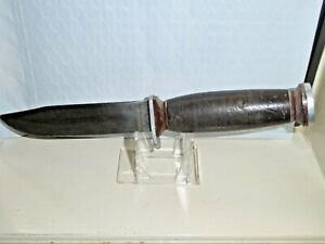"""Vintage Schrade Walden NY USA model H-15 Fixed Blade Knife 9-1/2"""" Overall Length"""