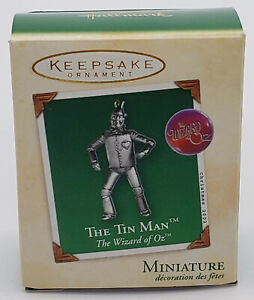 2002 Hallmark Miniature Keepsake Ornament ~ TIN MAN ~ Wizard of Oz ~ NIB
