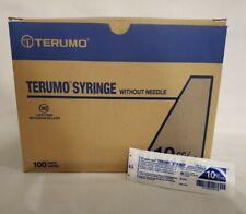 Terumo Syringe Without Needle 10ccml New Lot Of 100 Latex Free Luer Lock Tip