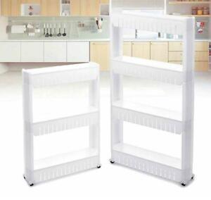 Slide Out Kitchen Trolley Rack Holder Slim Storage 3/4 Layers Shelf Organiser