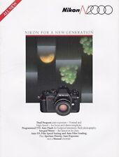 Prodotto originale per Nikon opuscolo informativo per N2000 Film Camera