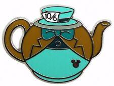 2014 Disney Hidden Mickey Alice in Wonderland Teapots Mad Hatter Pin N5