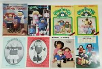 Lot of 8 Cabbage Patch Kids Knit Doll Clothes Pattern Books