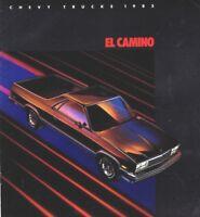 1985 Chevy EL CAMINO Brochure / Catalog with Color Chart: SS, Super Sport,