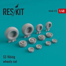 S-3 Viking wheels set (Resin Upgrade set) 1/48 ResKit RS48-0215
