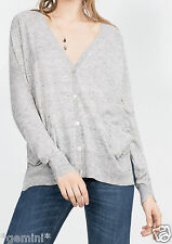 ZARA SIZE S / 36 38 Strickjacke JACKE TASCHEN KNIT JACKET CARDIGAN WITH POCKETS
