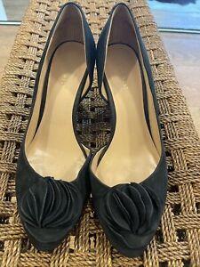 Nine West Size 9.5, Wedges Black Suede