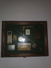 New listing Vintage Style Wooden Fishing Fisherman Shadow Box Fly Fishing Trout