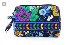NWT Vera Bradley Small Cosmetic Midnight Blues  Pouch Case Travel