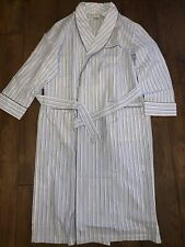 Brooks Brothers Blue/ Grey Striped Dressing Gown BRAND NEW RRP £115 Lightweight