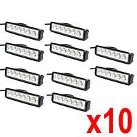 10X 6 inches Off Road 18W LED Fog DRL Lamp Work Light Bar 12V SUV 10pcs