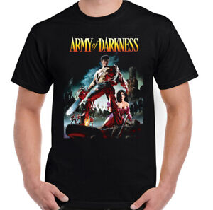 Evil Dead T-Shirt Army of Darkness Funny Horror Movie Chainsaw Cult Tee Top