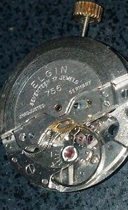 PUW 1260, German vintage automatic watch movement, 17 J, has stem/crown