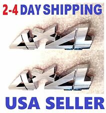X2 Chrome 4 X 4 EMBLEM 4X4 white / GMC car TRUCK logo DECAL SIGN ornament sv.