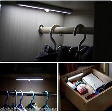 New 10 Led Pir Infrared Motion Sensor Bar Light Cabinet Cupboard Battery Powered