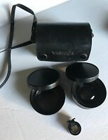 Yashica Conversion Lens and Wide Angle & Viewfinder set with case excellent