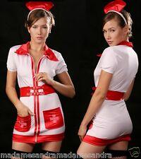 SEXY NURSE COSTUME OUTFIT Fancy Dress HALLOWEEN sizes M L XL Doctors & Nurses