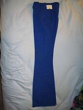 """70s Vintage Lasso Western Wear size 23"""" waist Royal Blue Womens Dress Pants Tabs"""