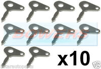 10 x UNIVERSAL TRACTOR PLANT JCB IGNITION SWITCH SPARE IGNITION KEYS LUCAS 35670