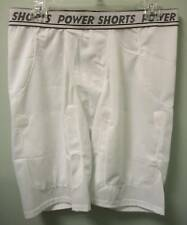 2 POWER SHORTS Mens White Five Pocket Football Sports Compression XL XLarge New