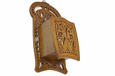 Antique Frisian Chip Carved Wooden Hanging Candle Box , Dutch.