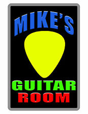 Personalized Guitar Sign Printed with Your Name.Custom Aluminum Sign Pick D#233