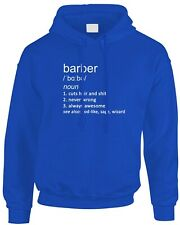 Barber Funny Definition Men's Mens Hoody Gift Idea Hairstylist Haircut Job Work