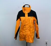 Vintage LL Bean Mountain Guide Mens Small Yellow Jacket Gore-Tex Hooded