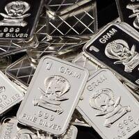 """""""Sniper"""" Design. Lot of 10, 1 gram .999 Fine silver bullion bar. NEW! Military"""