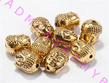 Wholesale 20 pcs Tibet Silver Charm Buddha Head Spacer Beads DIY Jewelry Finding