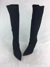 Stuart Weitzman Benefit Black Suede OTK Boots Size 9M  D453/