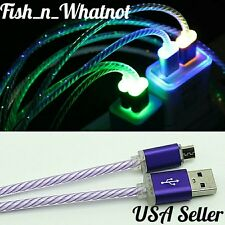 LED Micro USB Cable Data Sync Fast Charging Android Samsung  USA Seller -