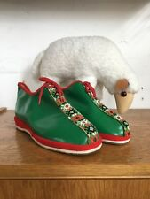 Puschen Schuhe Hausschuhe Folklore Trachtenschuhe 70er True Vintage 70s slippers