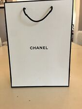 Authentic Chanel Paper Shopping Gift Bag White 12 X 8 1/2 X 4 3/4
