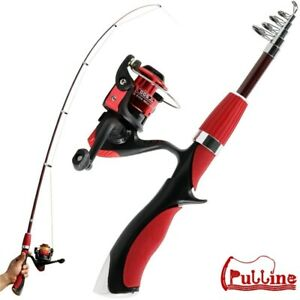 Fishing Rod Reel Combo Full Kit Telescopic Spinning Reel Gear Pole Lures Set