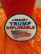 Proud Trump Deplorable Patch Great for a Hat
