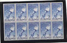 1956 Australia, Olympics Games 7 1/2d BlueSG 291  Block 10 MUH Fresh