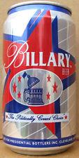 BILLARY BEER aluminum CAN, Political, Pittsburgh Brewing, PENNSYLVANIA 1994 gd1+