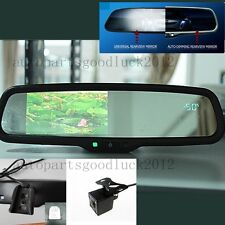 "Auto dimming mirror+4.3""LCD+compass+temp+camera,fit Ford Toyota Nissan Honda Kia"
