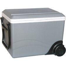 36 Qt Rolling Travel Cooler & Heater, 12 Volt Portable Car Boat, RV Chest Fridge