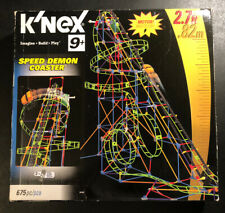 K'NEX Speed Demon Coaster ~ Set # 58108 ~ 675 Pieces with Motor ~ COMPLETE