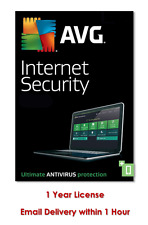 AVG INTERNET SECURITY 2017 - 1 PC for 1 Years - DOWNLOAD ONLY